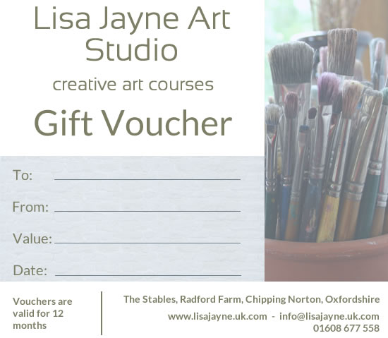 Lisa Jayne Art Studio gift vouchers