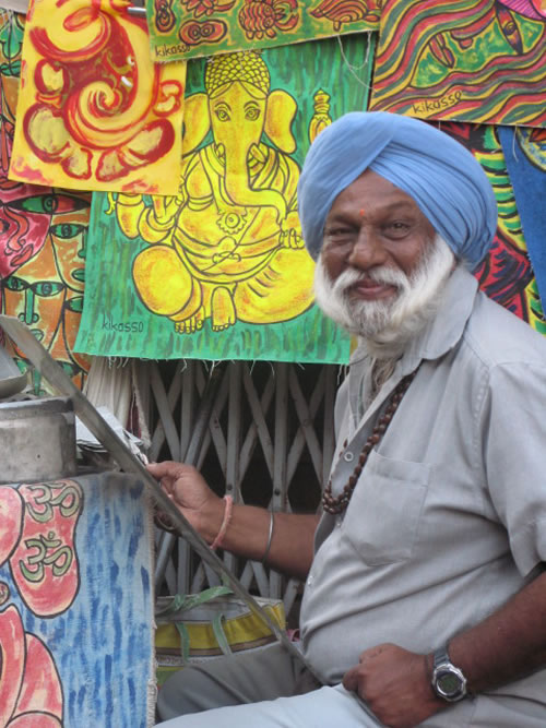 India – Local artist in Pushkar