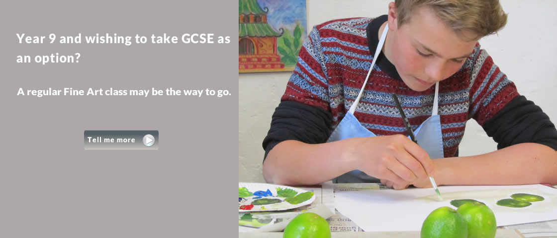 Year 9 and wishing to take GCSE as an option? A regular fine art class may be the option.
